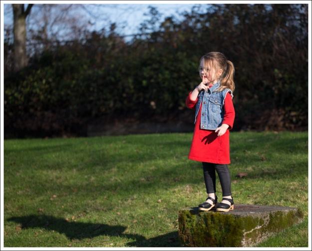 Blog Gap Denim Vest HM Red Zip Dress Levis Jeggings Sven Mary Jane Toddler Clogs-7