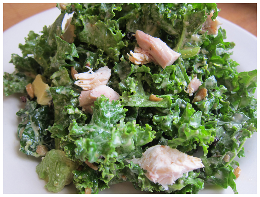 Blog kale chicken avocado salad-1