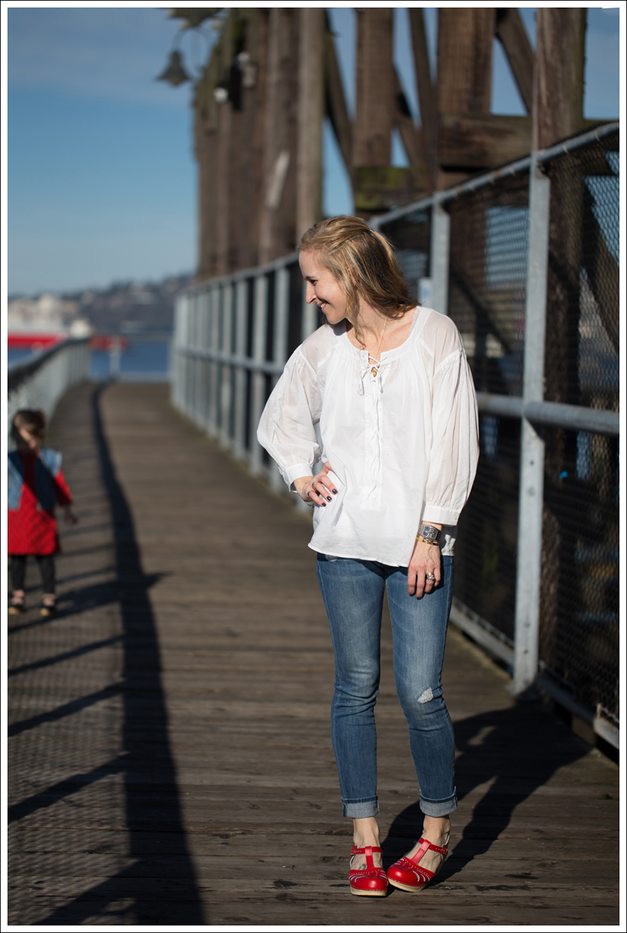 Blog See by Chloe White Boho Vince destroyed Skinny Jeans Sven Lacy Clog-1