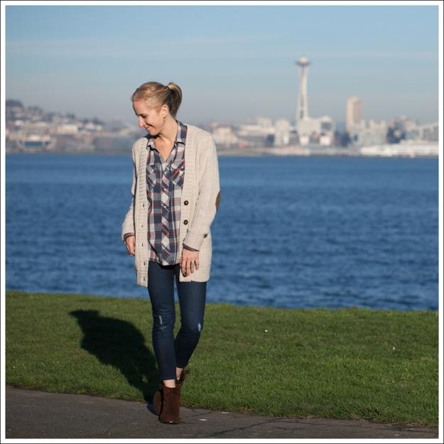 Blog Zara Boyfriend Cardi Levis Plaid Edyson Sloan Nine West Booties-1