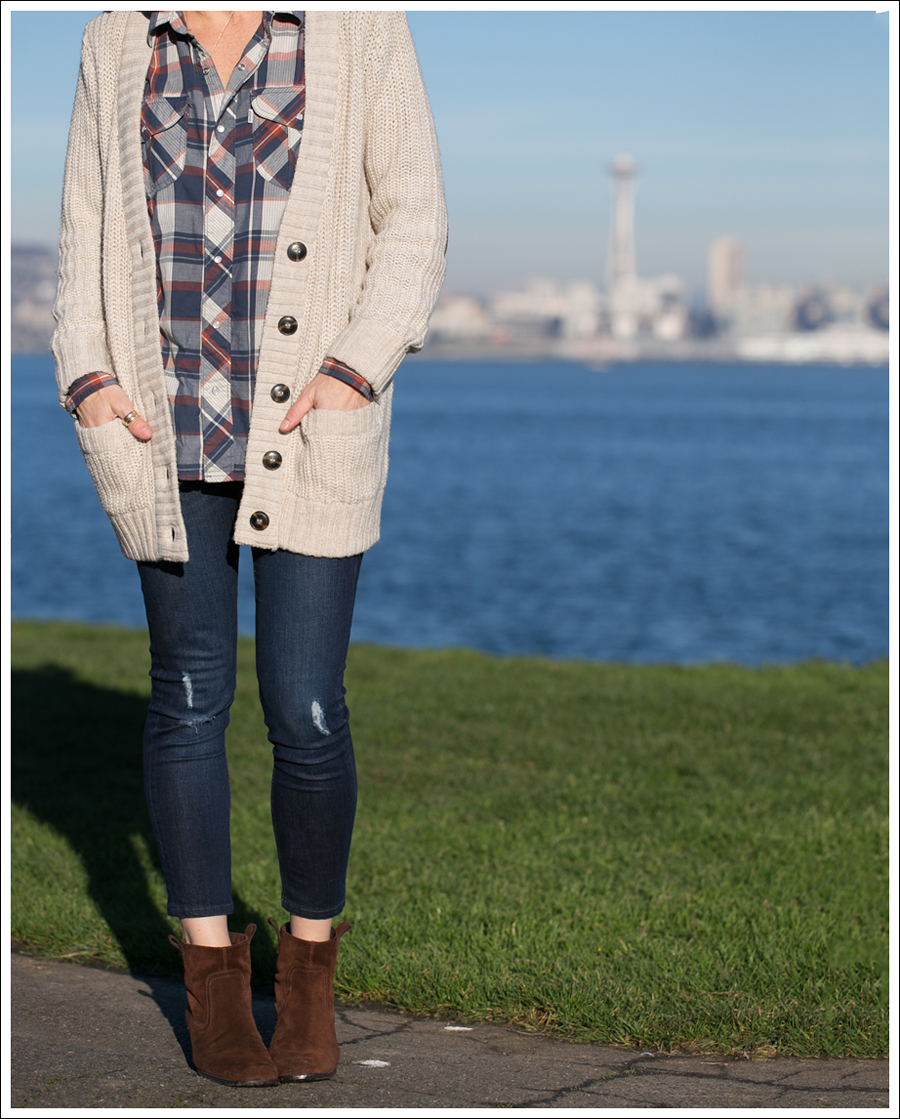 Blog Zara Boyfriend Cardi Levis Plaid Edyson Sloan Nine West Booties-2