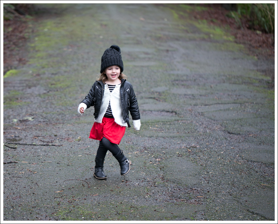 Blog Amy Coe Faux Leather Jacket Old Navy Cardigan GapKids Dress Levis Jeggings Xhiliration Moto Boots-1