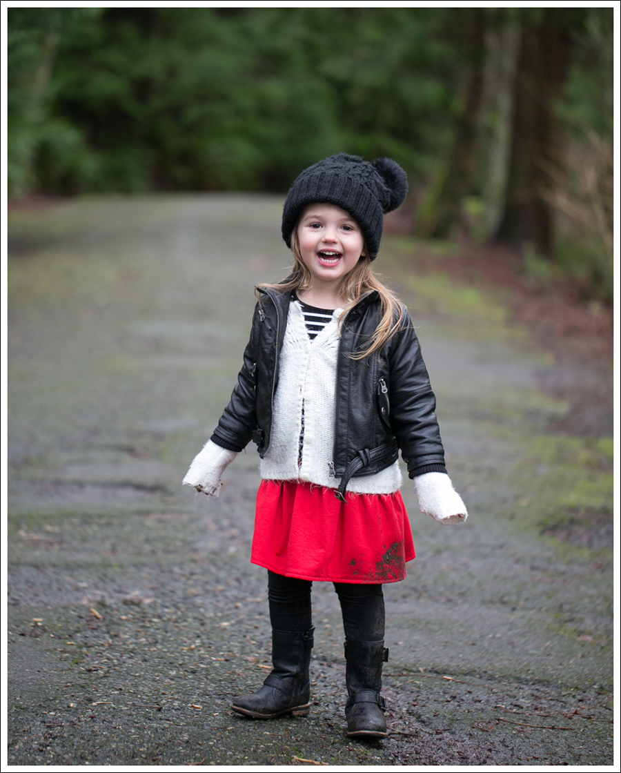 Blog Amy Coe Faux Leather Jacket Old Navy Cardigan GapKids Dress Levis Jeggings Xhiliration Moto Boots-10