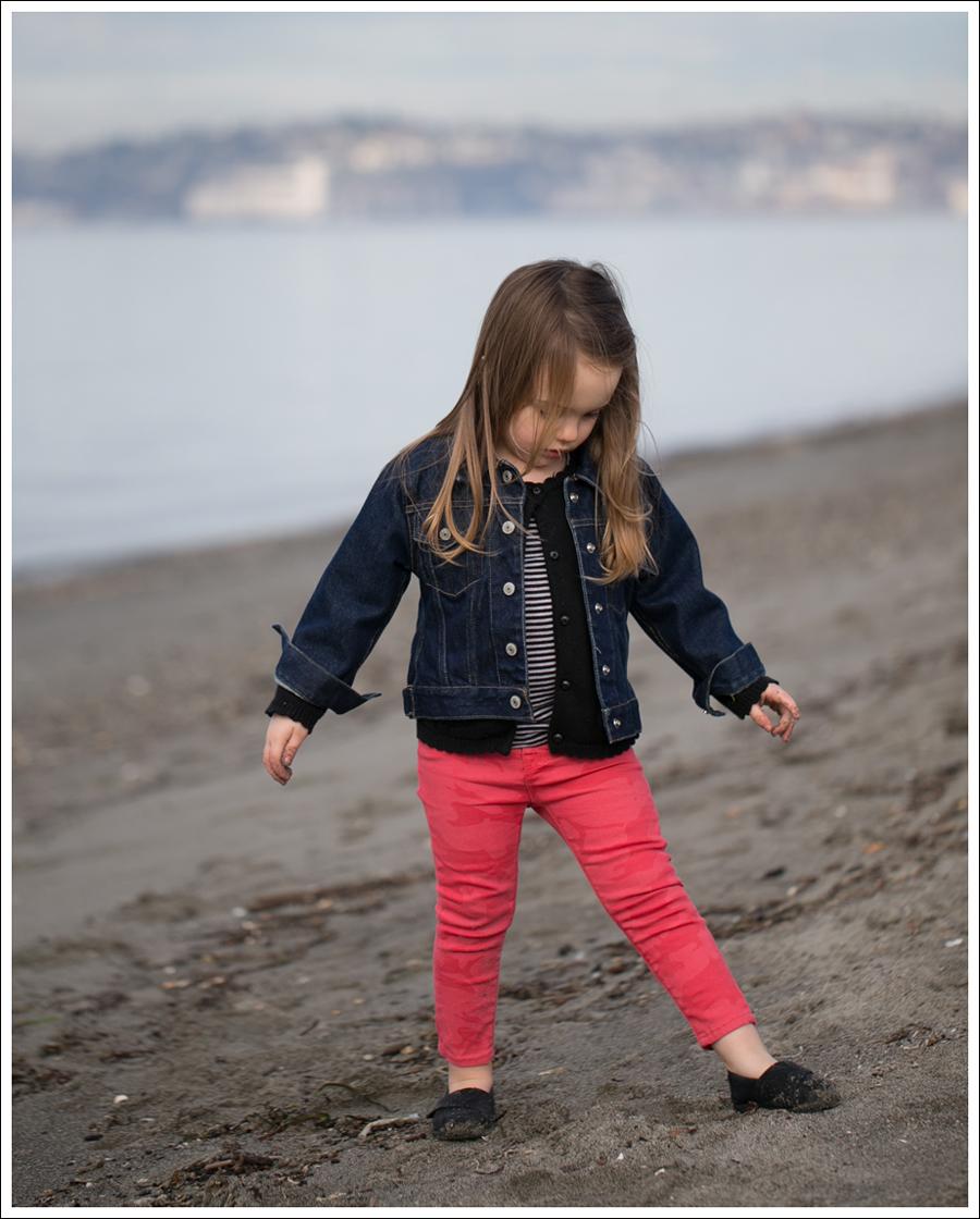 Blog GapKids Denim Jacket Gymboree Cardigan Hudson Kids Skinny Jeans Black Toms-2
