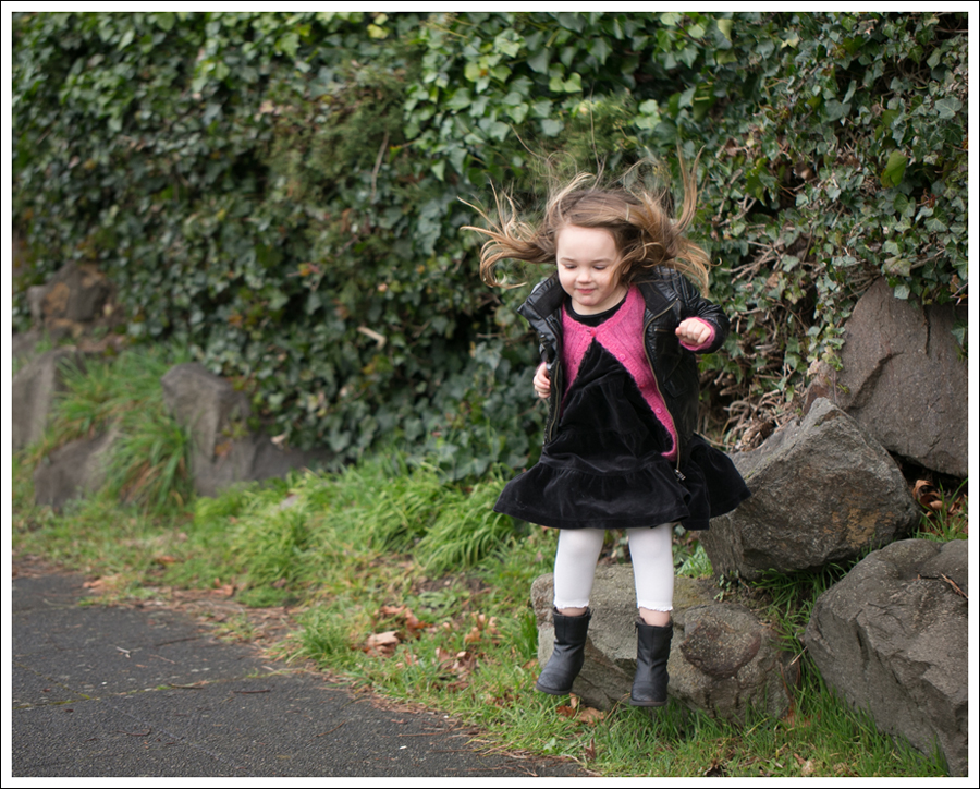 Blog HM Faux Leather Jacket Il etait une fee Cardigan Hanna Andersson Black Velour Twirl Dress Mexx Booties-2
