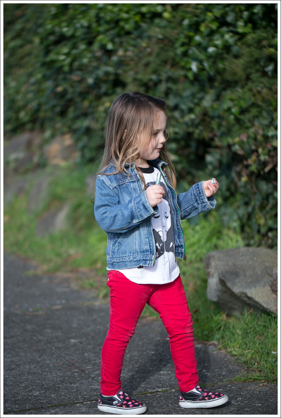 Blog Osh Kosh Denim Jacket Little Boogaweezin Remembering Ryan Raglan Red Skinny Joes Jeans Candy Heart Vans-2