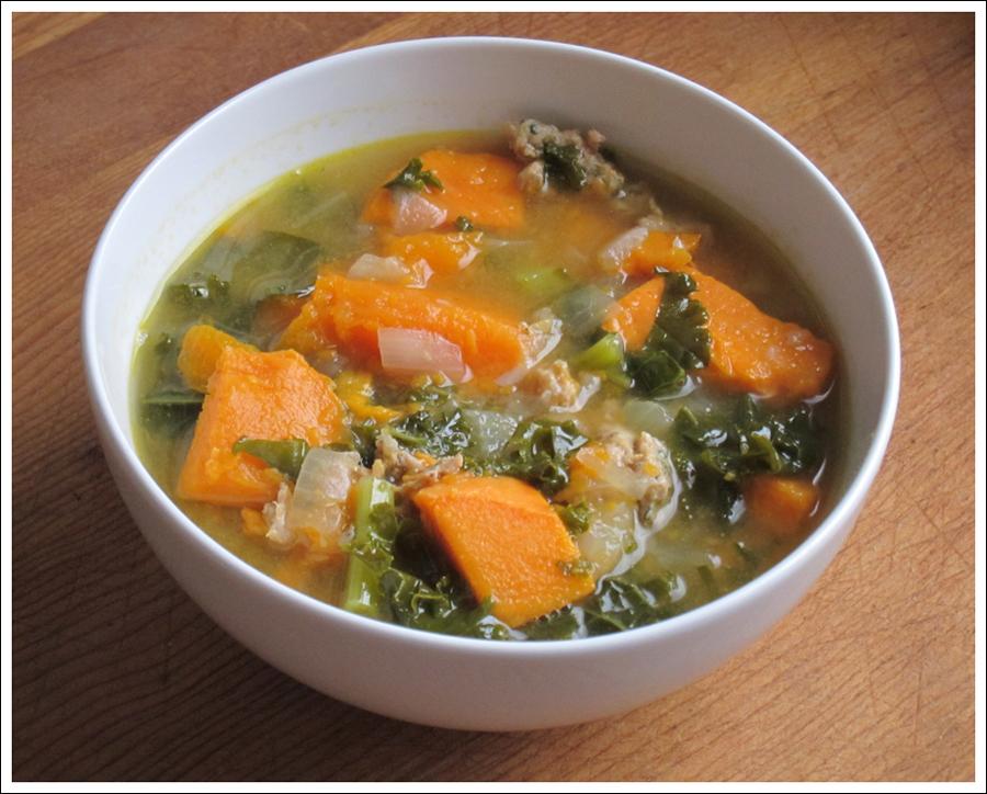 Blog sausage kale sweet potato soup 2