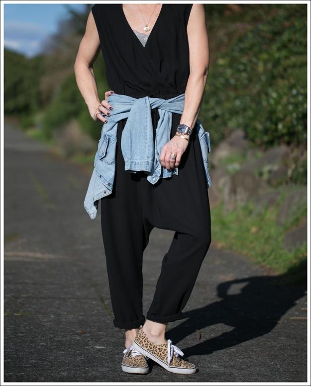 Blog The Fifth Label Drop-Crotch Jumpsuit Levis Denim Shirt Leopard HM Shoes-2