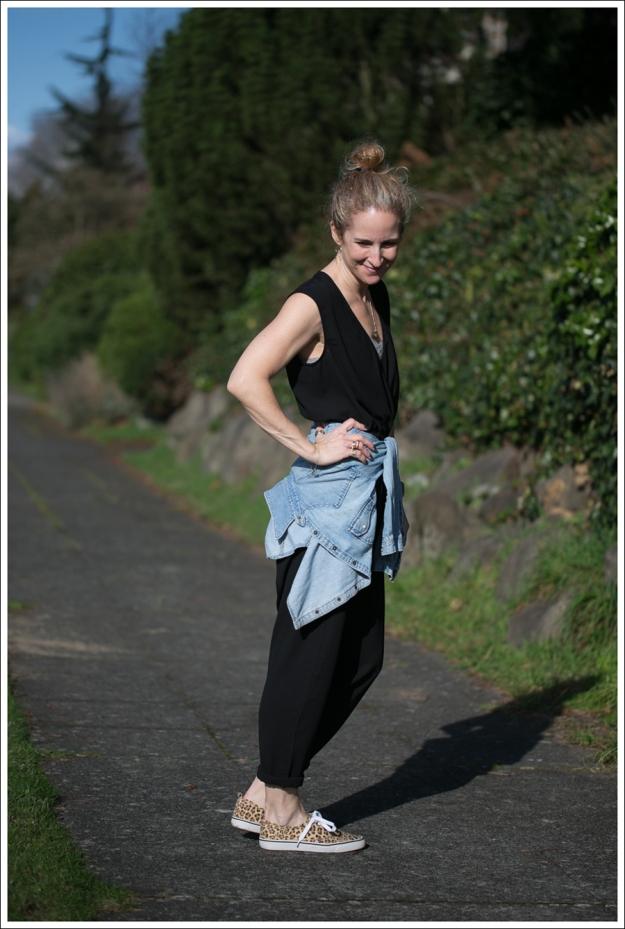 Blog The Fifth Label Drop-Crotch Jumpsuit Levis Denim Shirt Leopard HM Shoes-3