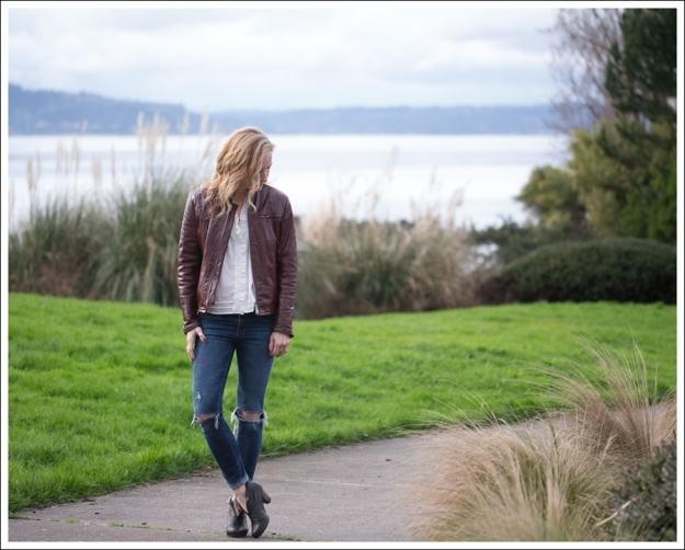 Blog Vintage Leather Jacket See by Chloe SS Boho Top Paige Skyline Skinny DIY Destroyed Jeans Frye Lisa Short Stitch Booties-1