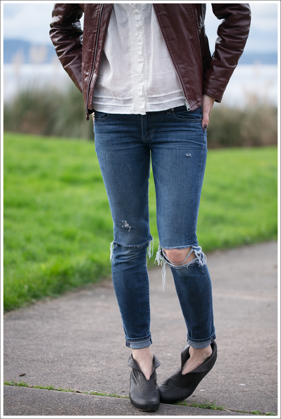 Blog Vintage Leather Jacket See by Chloe SS Boho Top Paige Skyline Skinny DIY Destroyed Jeans Frye Lisa Short Stitch Booties-2