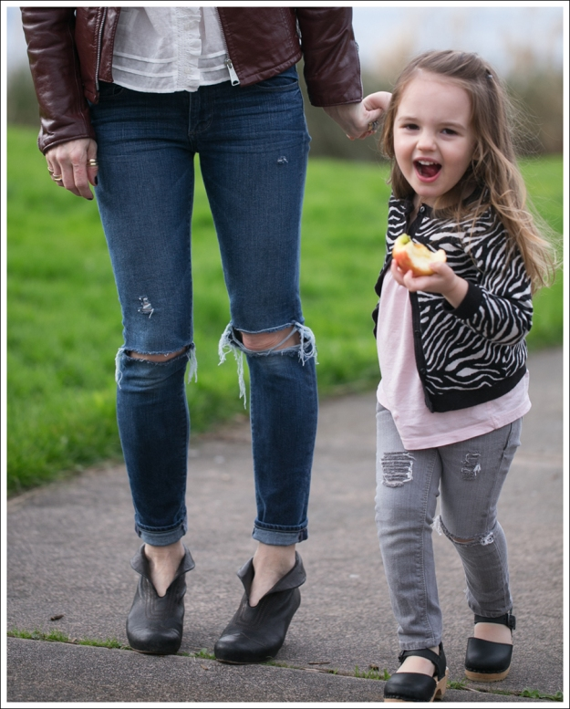 Blog Vintage Leather Jacket See by Chloe SS Boho Top Paige Skyline Skinny DIY Destroyed Jeans Frye Lisa Short Stitch Booties-5