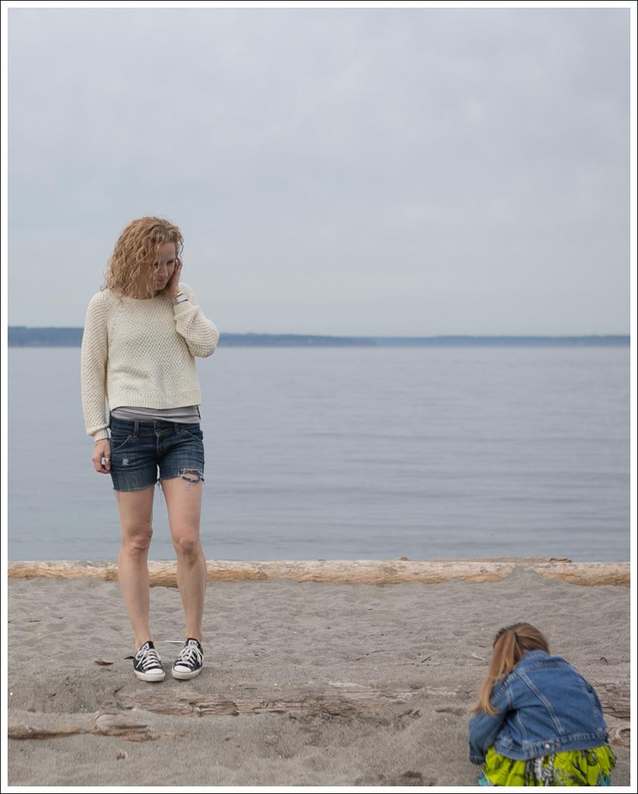 Blog HM Sweater Hudson DIY Cut Off Jeans Black Converse-1