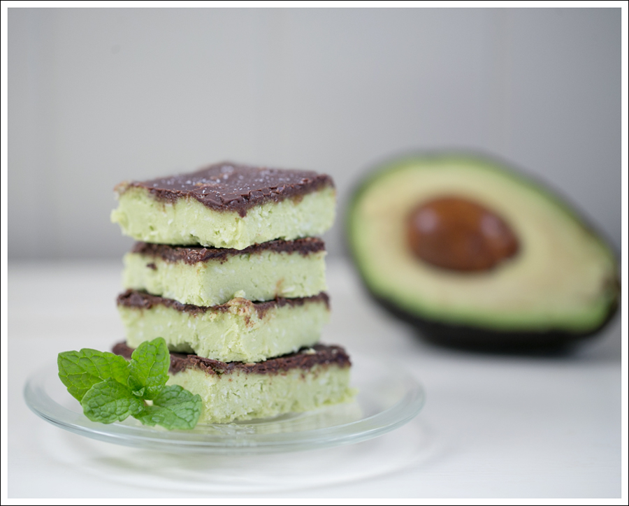 Blog Paleo Vegetarian No Bake Avocado Chocolate Mint Bars-2