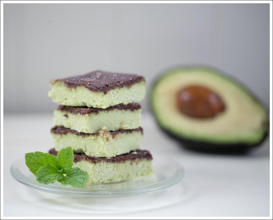 Blog Paleo Vegetarian No Bake Avocado Chocolate Mint Bars-2