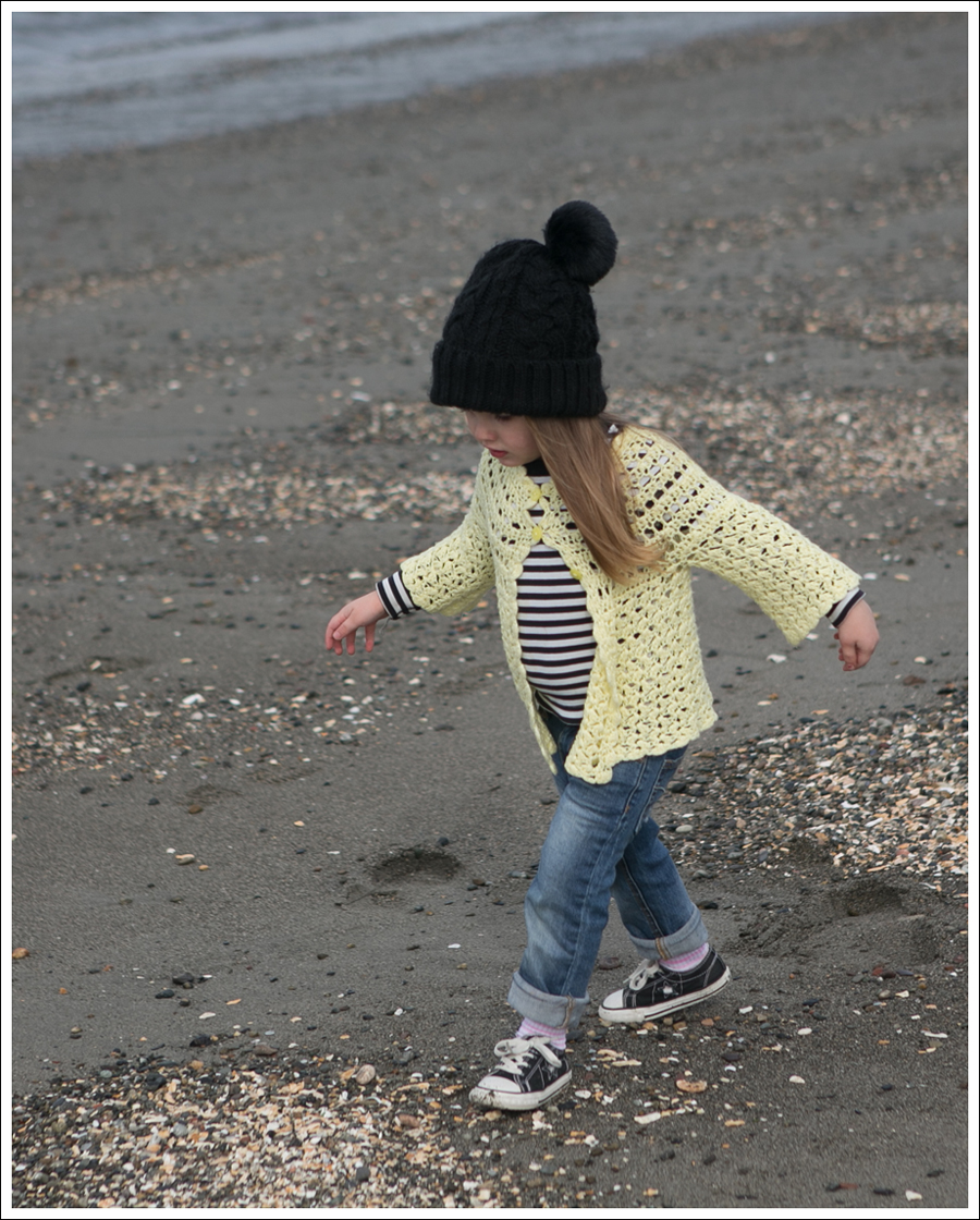 Blog Vintage Yellow Handknit Cardigan HM hat Tea Striped Tee Joes Jeans Black Converse-21