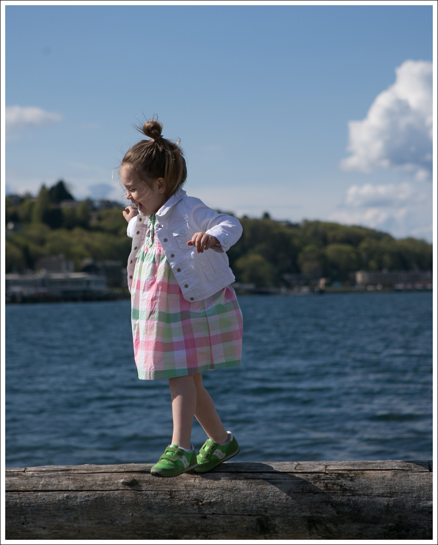 Blog GapKids White Denim Jacket Janie and Jack Plaid Dress Green Saucony Toddler Shoes-12