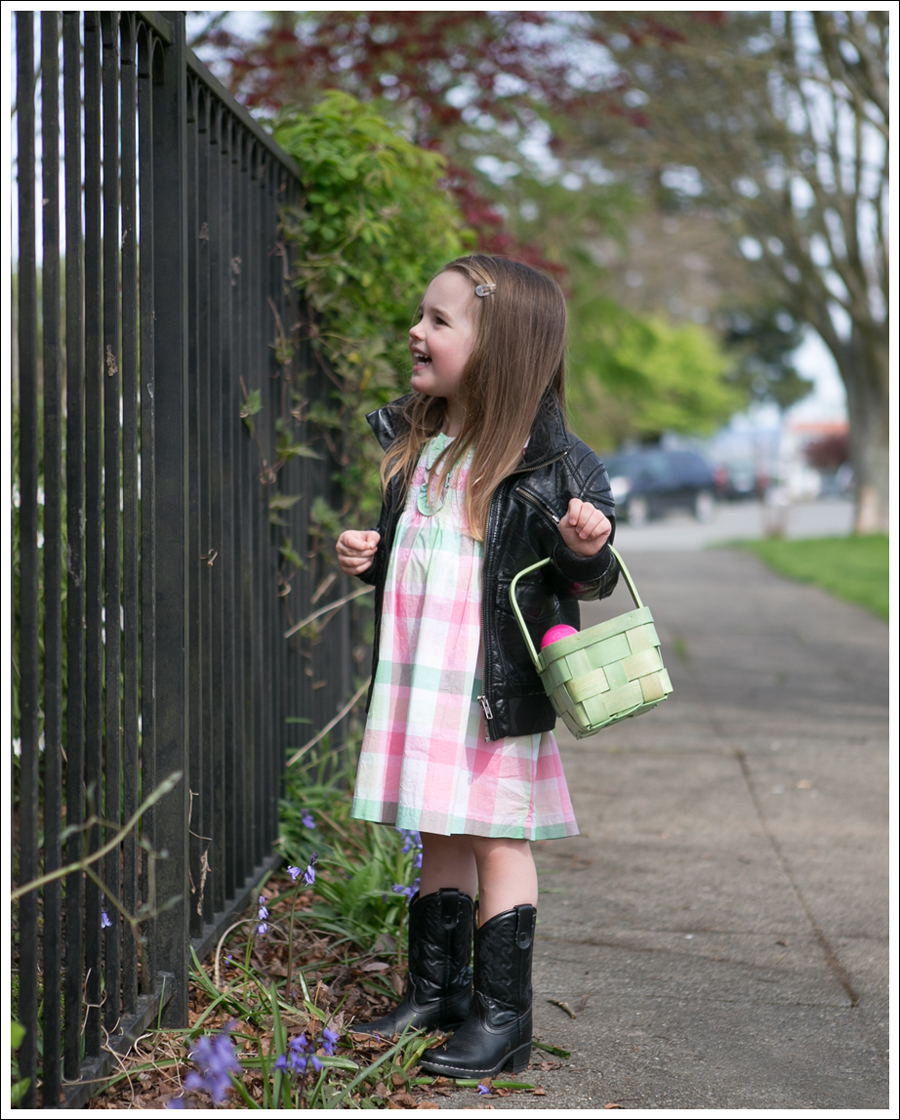 Blog HM Faux leather Toddler Jacket Janie and Jack Plaid Dress Nordstrom Cowboy Boots-