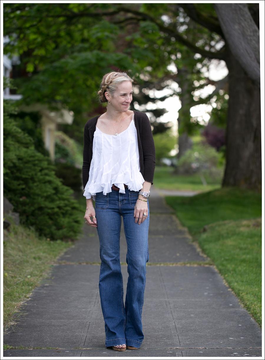 Blog Velvet Cashmere Cardi Ana Nonza Top J Brand Bette High Waist Flare Jeans-1
