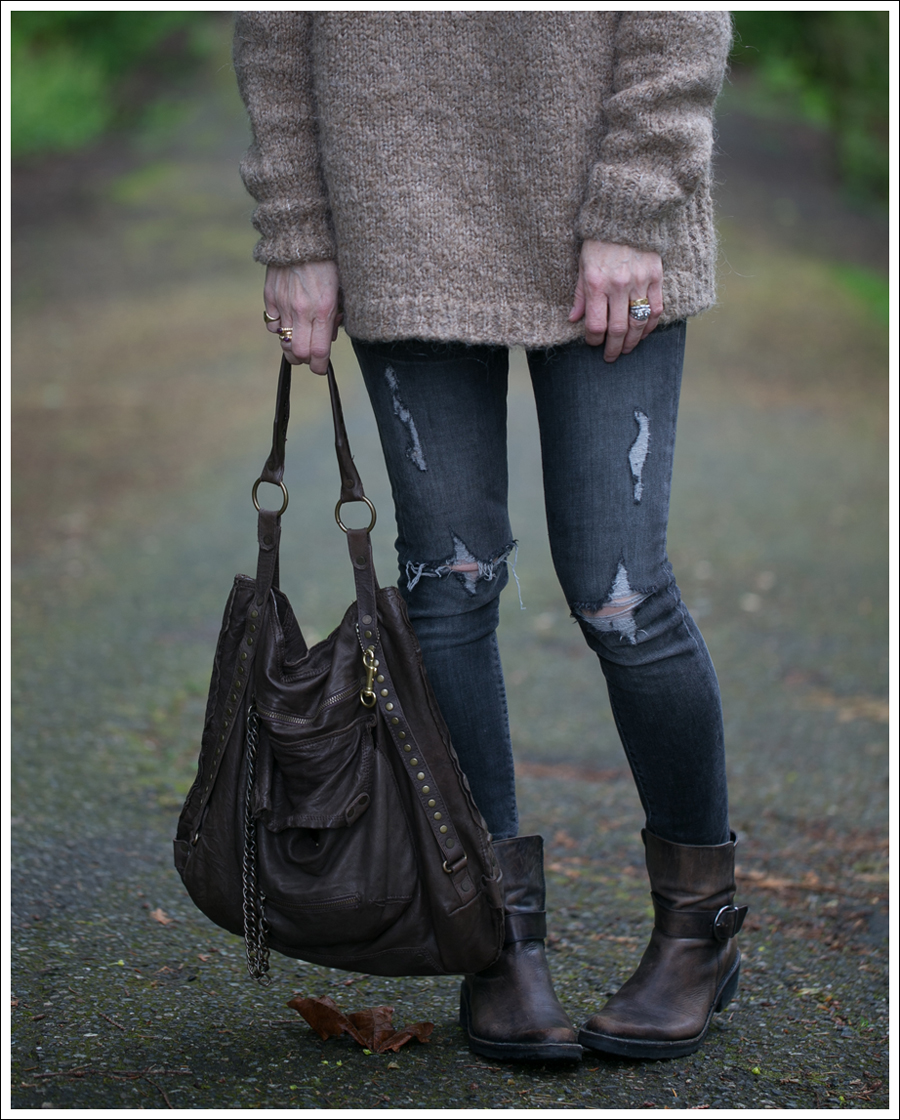Blog Zara Tie Back Sweater Paige Destroyed Blue Heights Cafe Noir Boots Doma Leather Purse-2
