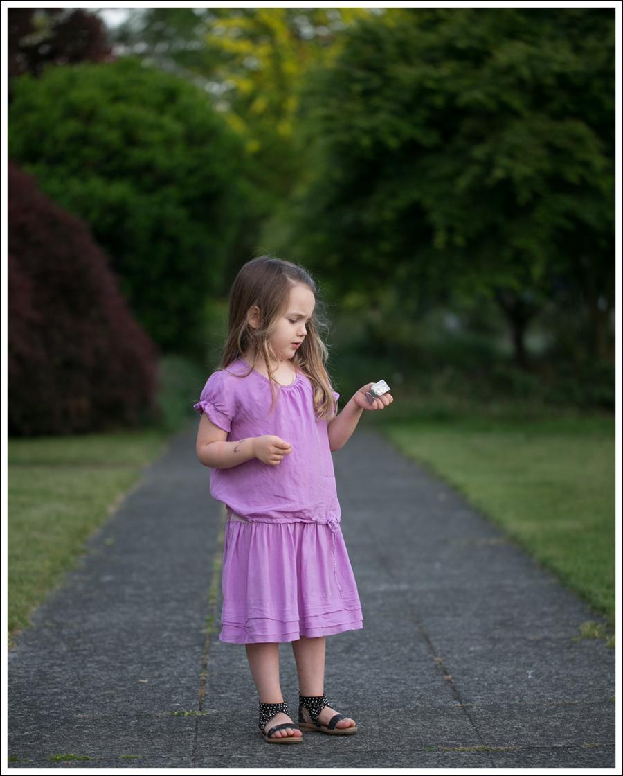 Blog CrewCuts Lavender Silk Drop Waist Dress Link Gladiator Studded Sandals-2