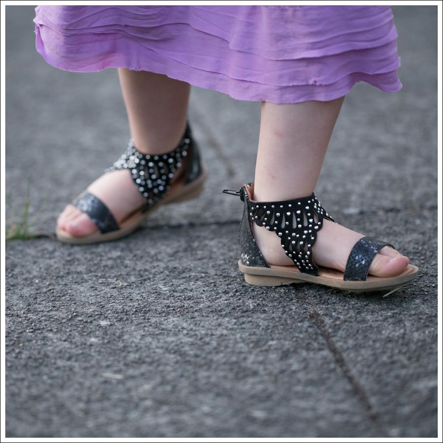 Blog CrewCuts Lavender Silk Drop Waist Dress Link Gladiator Studded Sandals-4