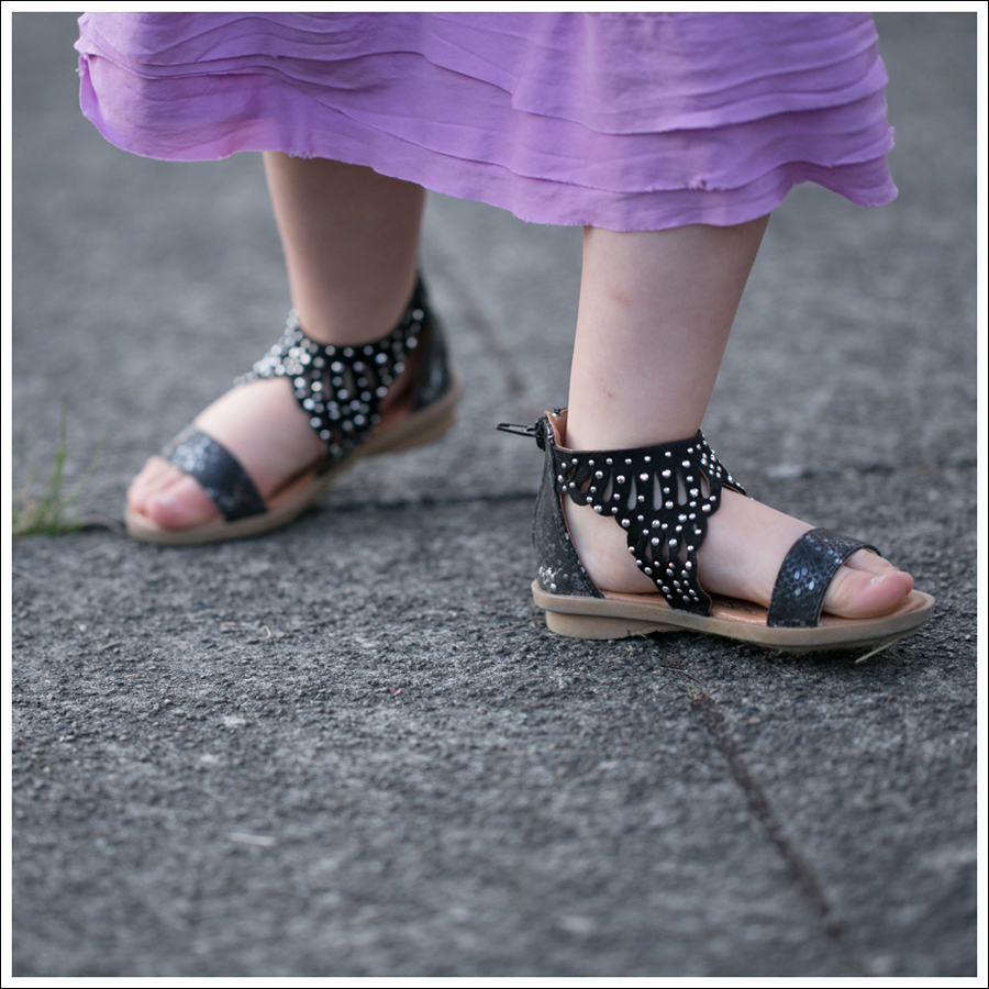 Blog CrewCuts Lavender Silk Drop Waist Dress Link Gladiator Studded Sandals-4