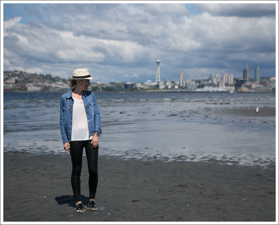 Blog HM Fedora Gap Denim Shirt Corner Shop Tee Blank NYC Vegan Leather Leggings Black Superga-1