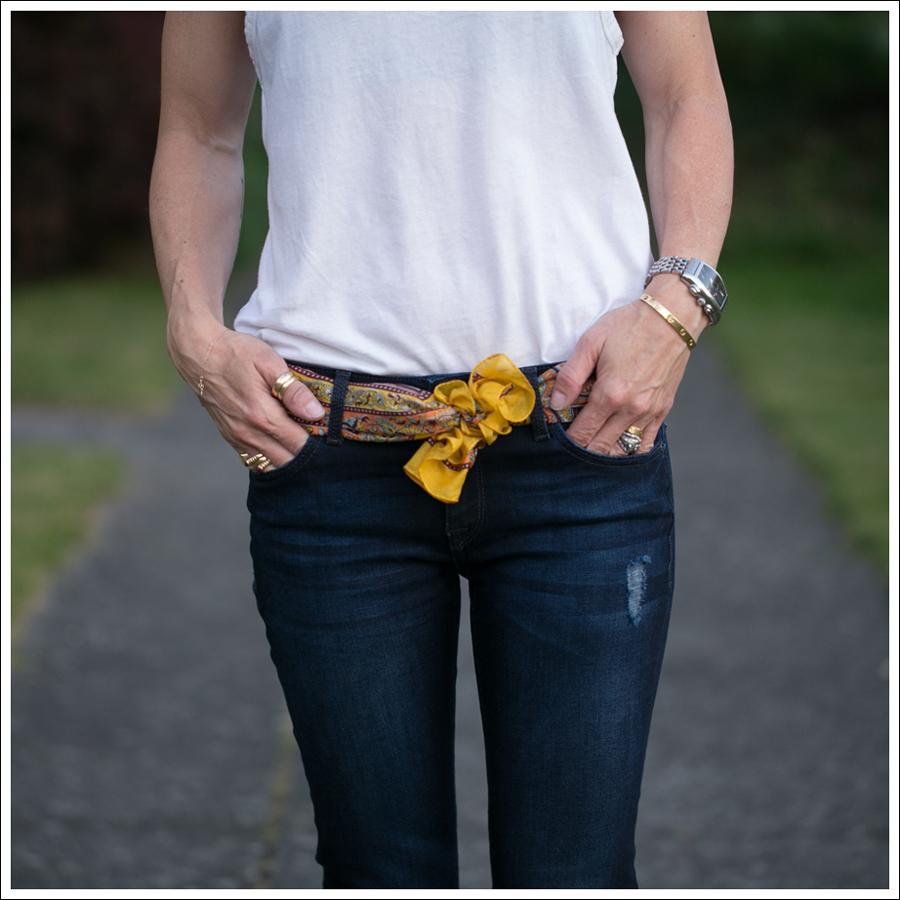 Blog Zara Muscle Tank Vintage Silk Scarf DL1961 Amanda Skinny Seville Me Too Espadrill Wedges-3