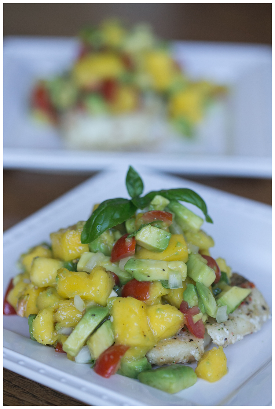 Blog Whole 30 Costco Garlic Cod with Paleo Mango Avocado Salsa-1