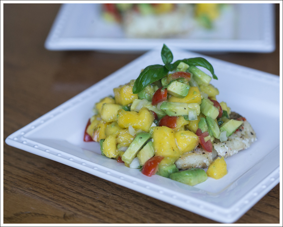 Blog Whole 30 Costco Garlic Cod with Paleo Mango Avocado Salsa-2