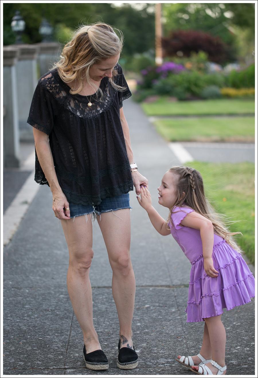 Blog Free People Dandelion Lace Pointelle Top COH DIY Cutoffs ShoeMint Christie Espadrilles-10