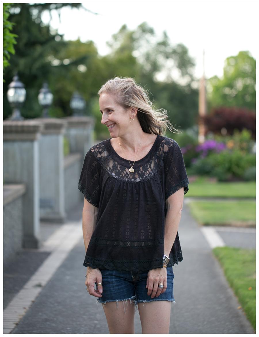 Blog Free People Dandelion Lace Pointelle Top COH DIY Cutoffs ShoeMint Christie Espadrilles-3