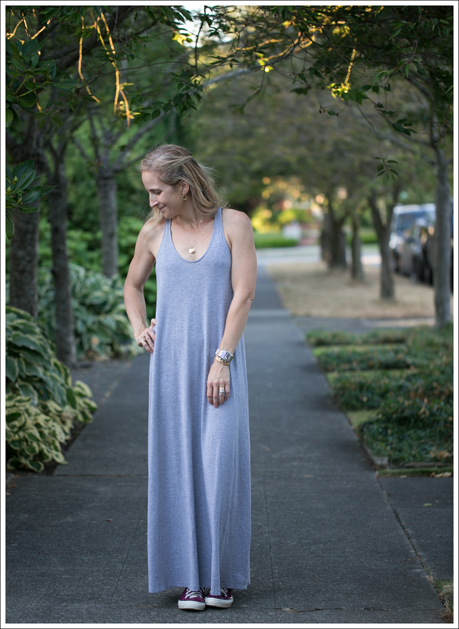 Blog Gray Splendid Racerback Maxi Dress Pink Patent Leather Converse-1