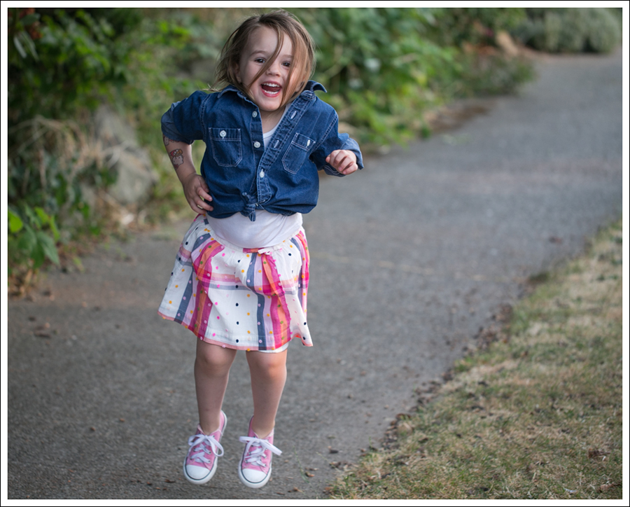 Blog Hanna Andersson Denim Shirt American Apparel Tank Lands End Skirt Pink Converse-7