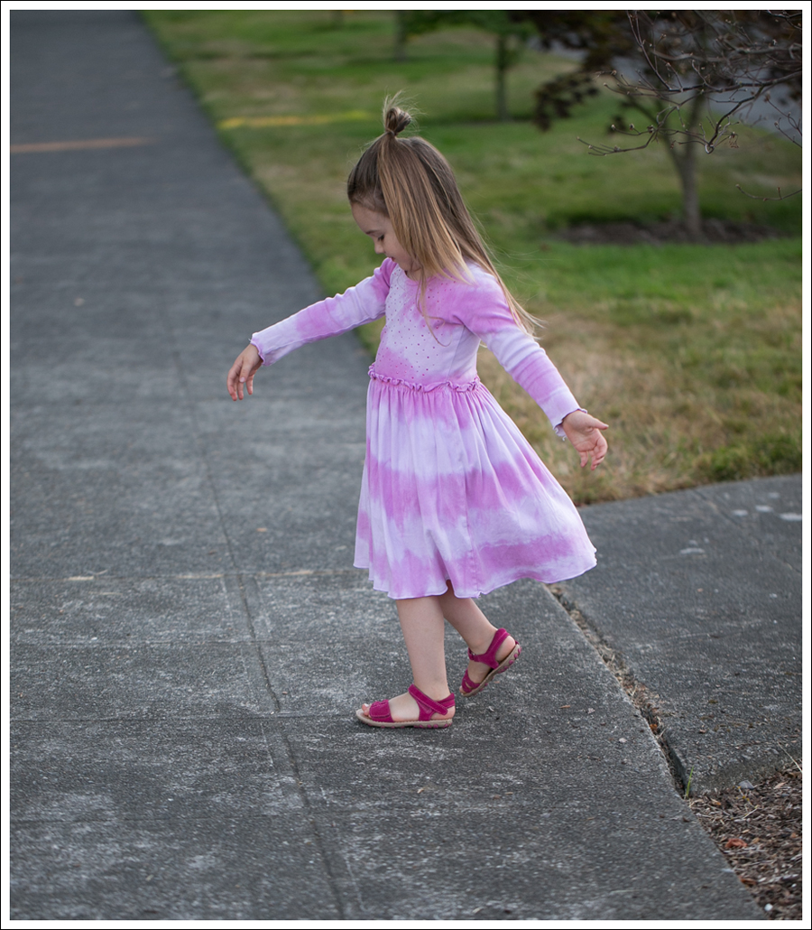 Blog Mignone Tie Dye Sparkle Long Sleeve Dress Pink Leather Braided Circo Sandals-1