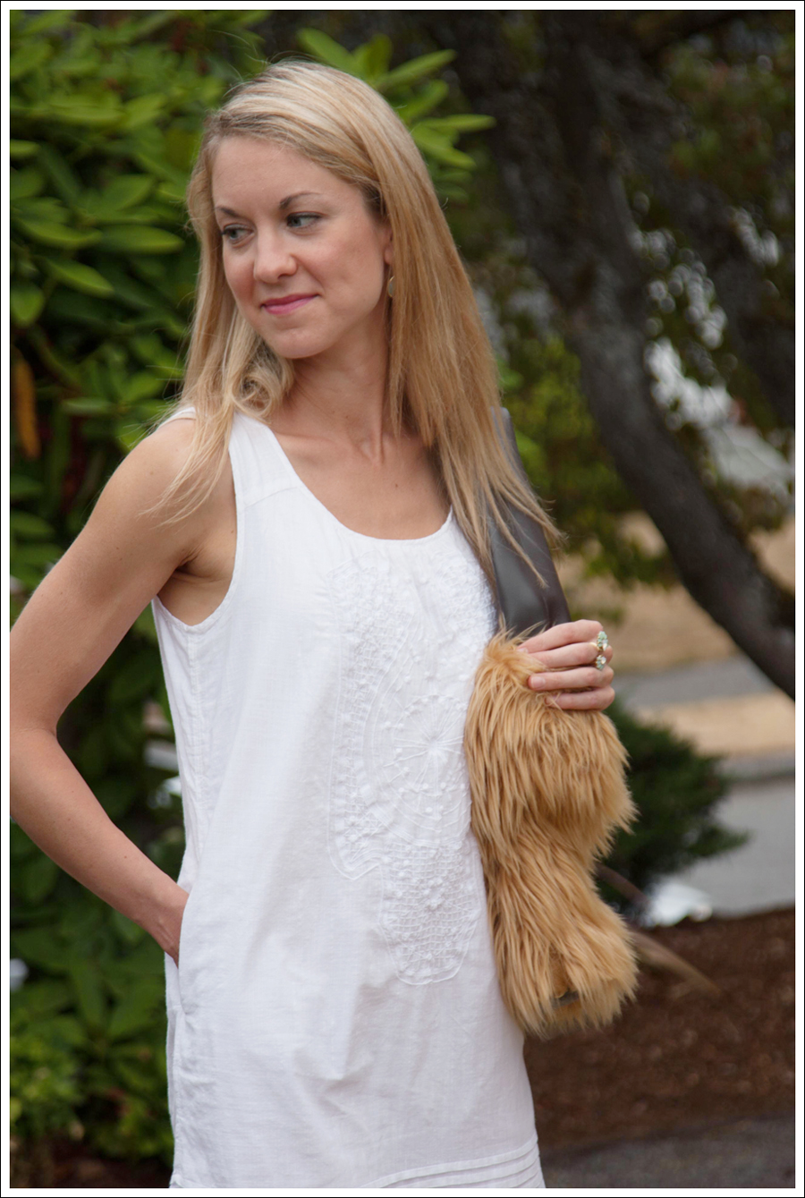 Blog DIY Lion Faux Fur Tote Bag-2