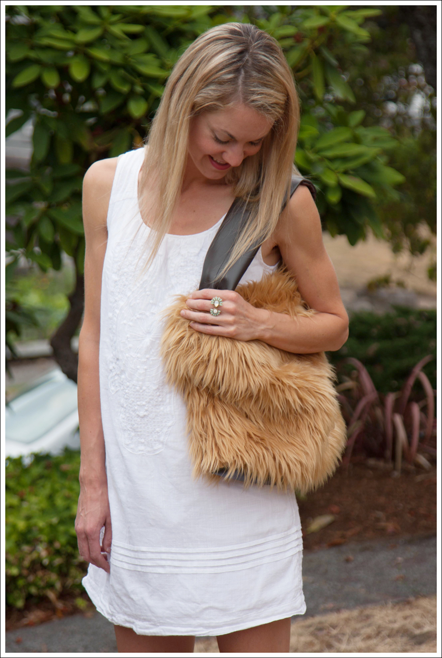 Blog DIY Lion Faux Fur Tote Bag-3