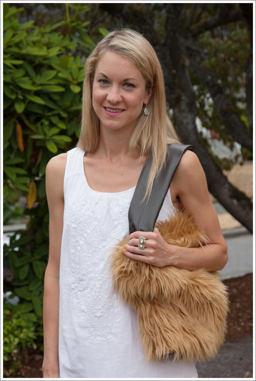Blog DIY Lion Faux Fur Tote Bag-4