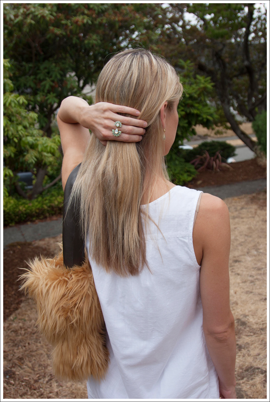 Blog DIY Lion Faux Fur Tote Bag-6