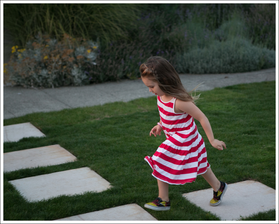 Blog HM Red Striped Dress Fire Checked Vans-2