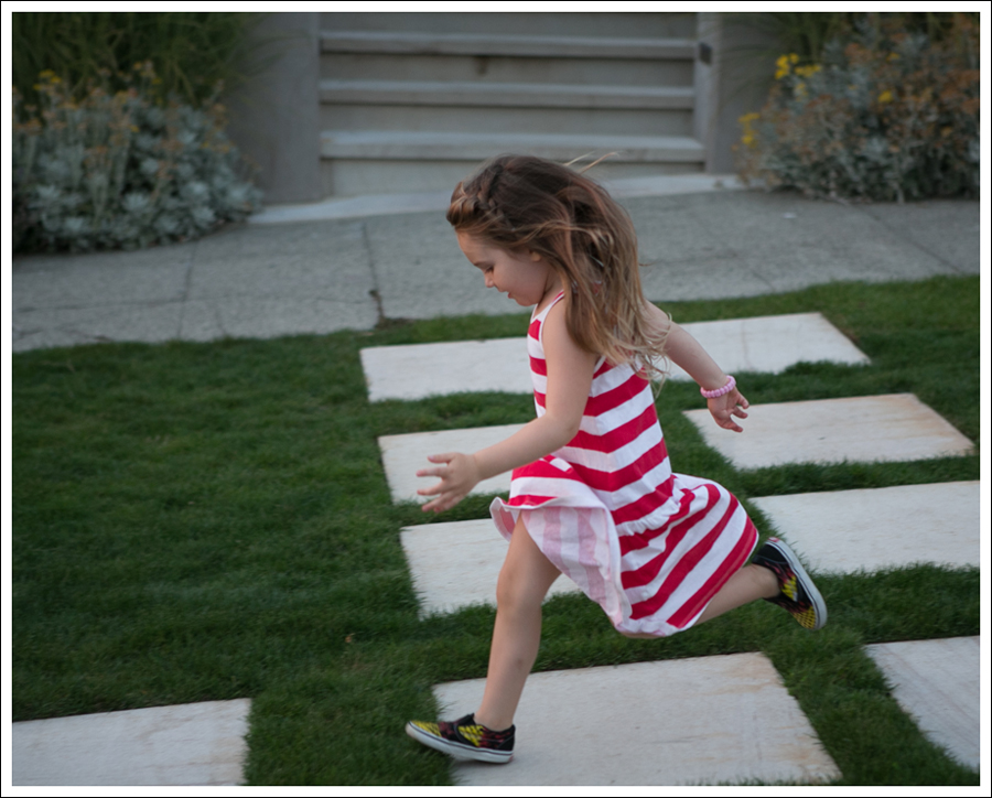Blog HM Red Striped Dress Fire Checked Vans-3