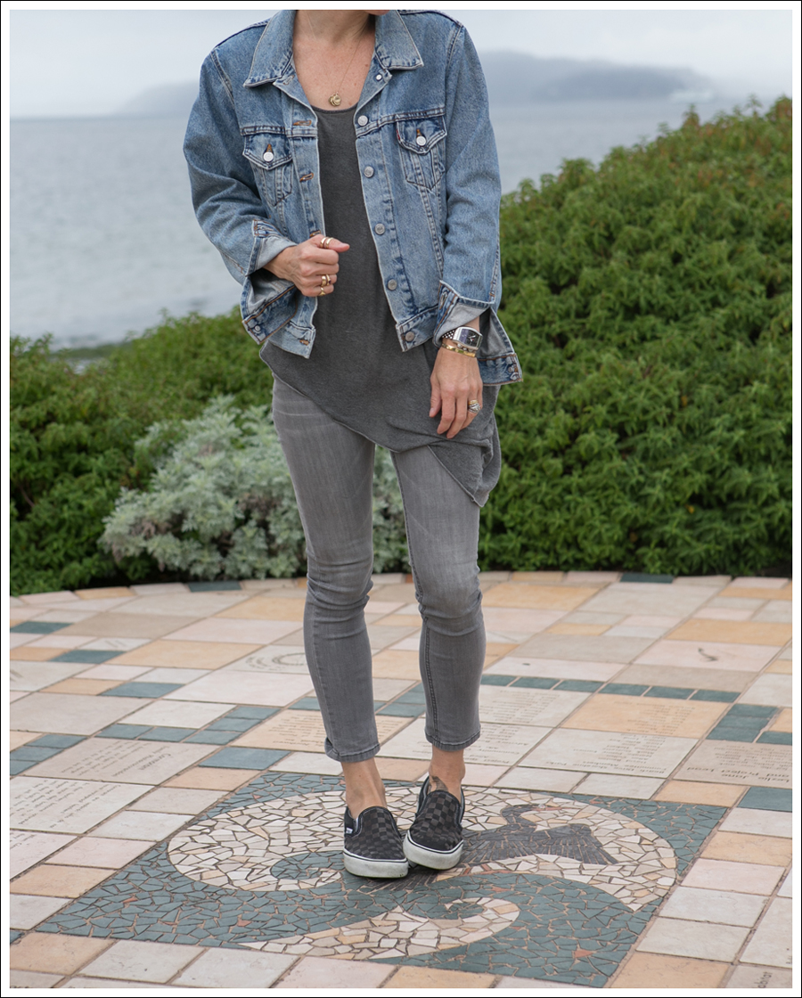 Blog Levis Jacket helmut lang asymmetrical tee Joes Jeans Jeggings Checkered Vans-1