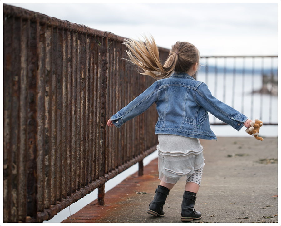 Blog Osh Kosh Denim Jacket CrewCuts Grey Tiered Tee Dress Sparkle Leggings Xhiliration Moto Boots-2