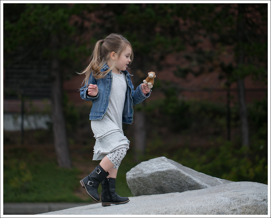 Blog Osh Kosh Denim Jacket CrewCuts Grey Tiered Tee Dress Sparkle Leggings Xhiliration Moto Boots-6