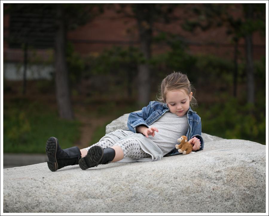 Blog Osh Kosh Denim Jacket CrewCuts Grey Tiered Tee Dress Sparkle Leggings Xhiliration Moto Boots-9
