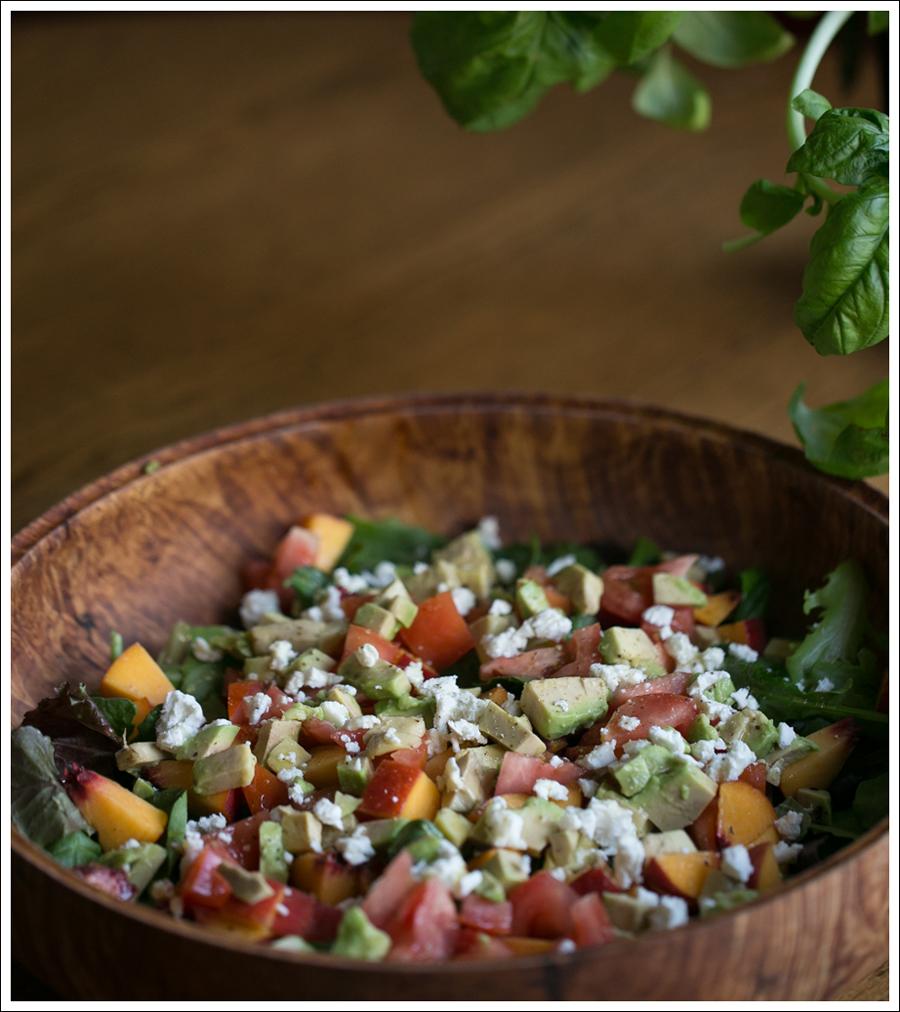 Blog Peach Avocado Tomato Goat Cheese Basil Salad-1