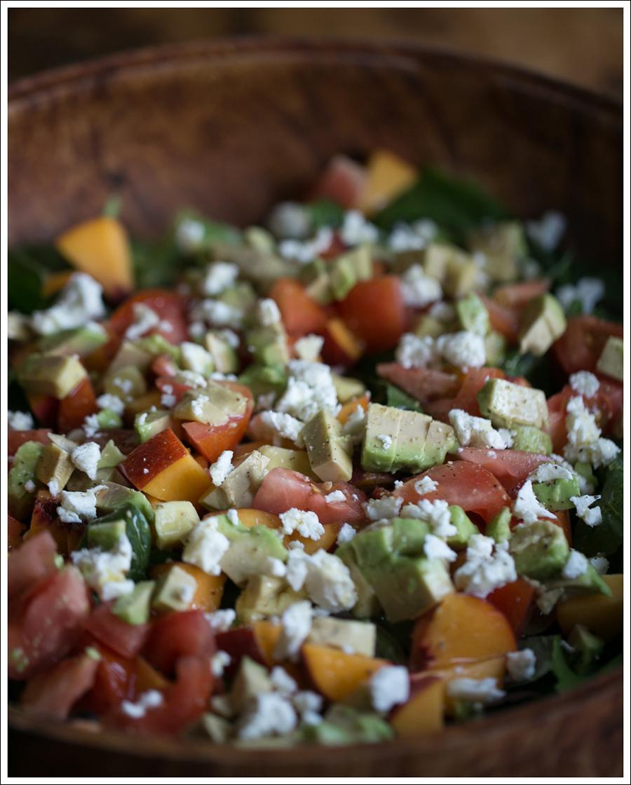 Blog Peach Avocado Tomato Goat Cheese Basil Salad-2