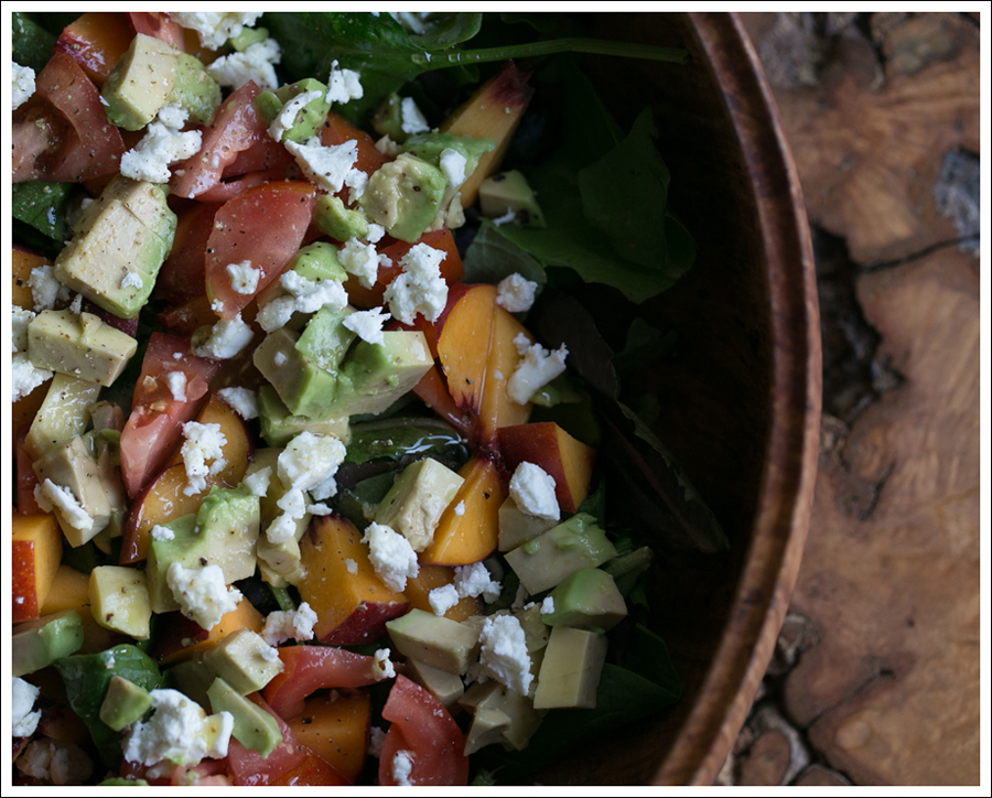 Blog Peach Avocado Tomato Goat Cheese Basil Salad-4