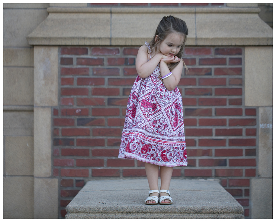 Blog Red Paisley GapKids Boho Dress Saltwater Sandals-9